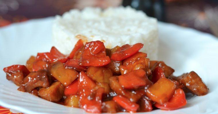 Почти китайское блюдо: свинина в кисло-сладком соусе